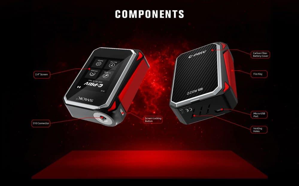 SMOK G-Priv Touchscreen MOD Components