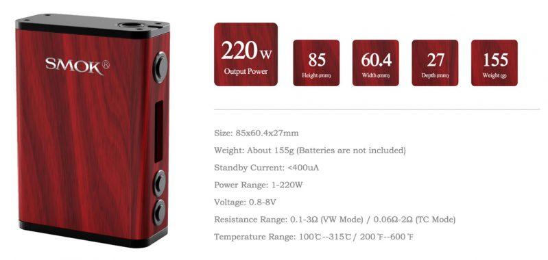 SMOK Treebox Plus 220W Details