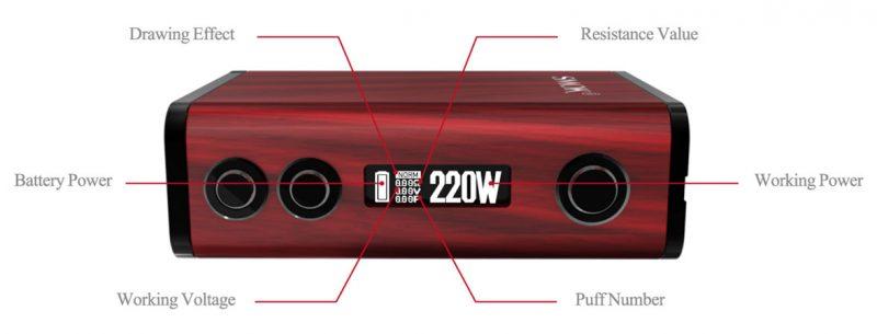 SMOK Treebox Plus 220W Display