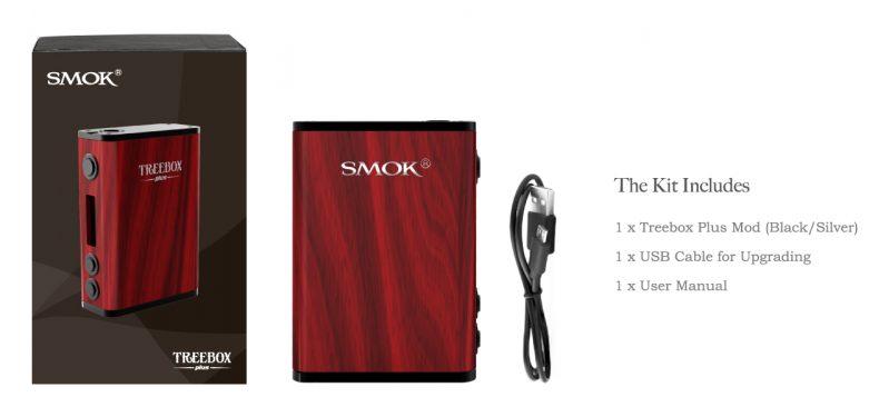 SMOK Treebox Plus 220W Kit Contents