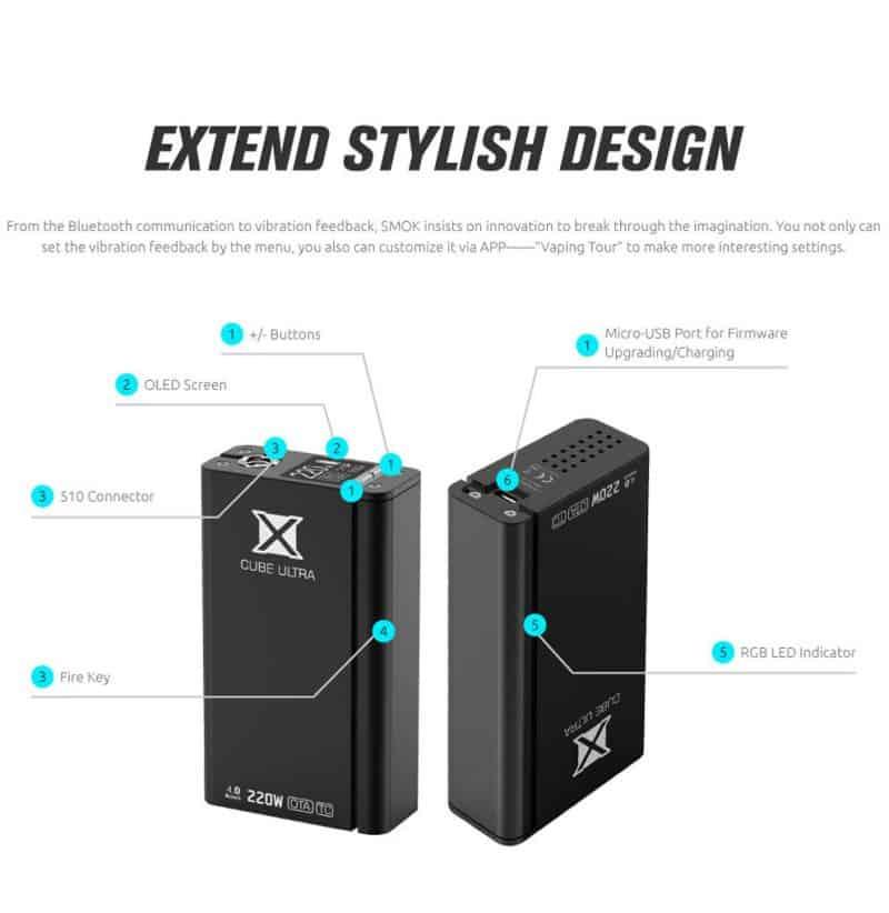 SMOK 220W X CUBE ULTRA BOX MOD