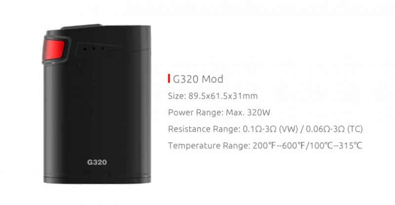 SMOK Marshal G320 Mod Kit Contents