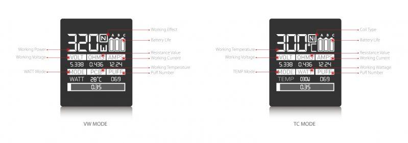 SMOK Marshal G320 Mod OLED Screen