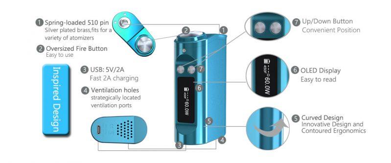 The Telsa Nano 60W Box MOD