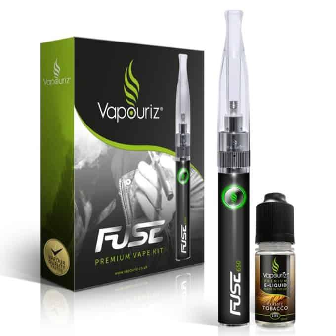 Vapouriz Fuse Dual Coil Electronic Cigarette Kit Black