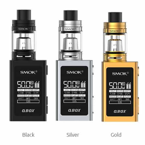 SMOK QBOX KIT Black Silver and Gold